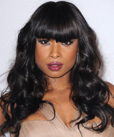 "18"" Wavy With Bangs Wigs For African American Women The Same As The Hairstyle In The Picture"