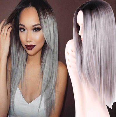 "22"" Grey Wigs For African American Women The Same As The Hairstyle In The Picture"
