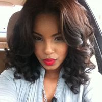 "14"" Wavy Wigs For African American Women The Same As The Hairstyle In Picture"