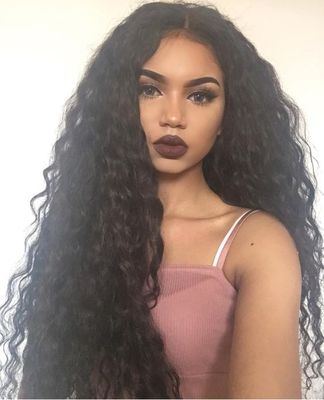 "24"" Water Wave Wigs For African American Women The Same As The Hairstyle In The Picture"