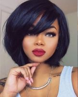 "12"" Bob Wigs With Bangs Wigs For African American Women The Same As The Hairstyle In Picture"