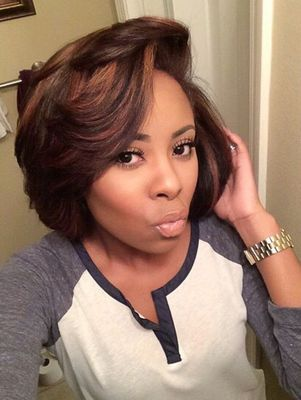 "12"" Bob Wigs For African American Women The Same As The Hairstyle In The Picture"