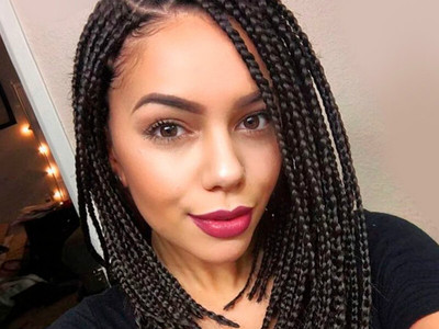"12"" Braided Wigs Lace Front Wigs For Women The Same As The Hairstyle In The Picture"