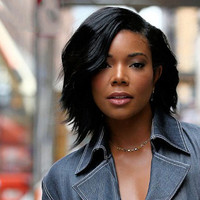 "12"" Bob With Side Bangs Wigs For African American Women The Same As The Hairstyle In Picture"