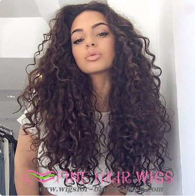 "20"" Curly Long Wigs For African American Women The Same As The Hairstyle In The Picture"
