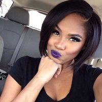 "10"" Bob Wigs For African American Women The Same As The Hairstyle In The Picture"