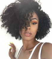 "10"" Kinky Curly Wigs For African American Women The Same As The Hairstyle In The Picture"
