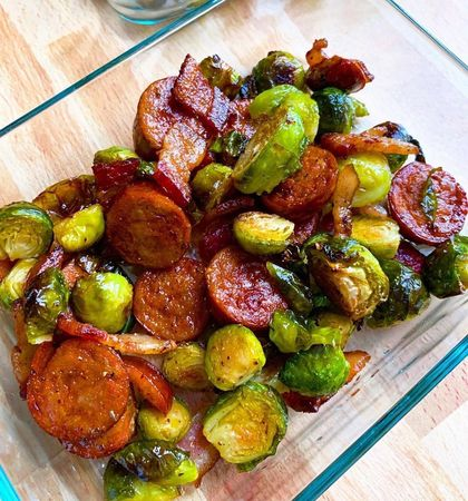 Bacon, Sausage and Brussel Sprouts