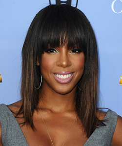 14 Inch Bob With Bangs Wigs For African American Women The Same As The Hairstyle In The Picture