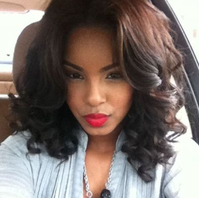 14 Inch Wavy Wigs For African American Women The Same As The Hairstyle In Picture aw