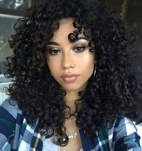 14 Inch Kinky Curly Wigs For African American Women The Same As The Hairstyle In The Picture