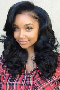 18 Inch Wavy Long Wigs For African American Women The Same As The Hairstyle In The Picture qd