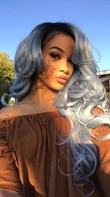 24 Inch Gray Wigs For African American Women The Same As The Hairstyle In The Picture jq