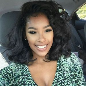14 Inch Wavy Wigs For African American Women The Same As The Hairstyle In The Picture az