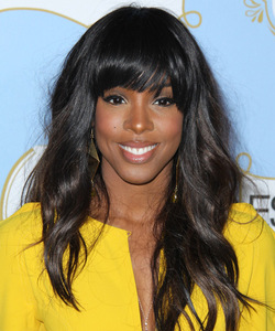 20 Inch Wavy With Bangs Wigs For African American Women The Same As The Hairstyle In The Picture
