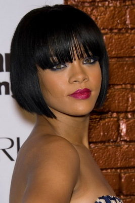 10 Inch Bob With Bangs Wigs For African American Women The Same As The Hairstyle In The Picture nr