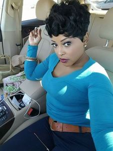 6 Inch Short Curly Wigs For African American Women The Same As The Hairstyle In The Picture