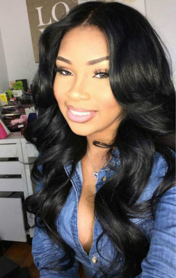 24 Inch Wavy Long Wigs For African American Women The Same As The Hairstyle In The Picture fh