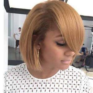 "12"" Short Bob Wigs For African American Women The Same As The Hairstyle In The Picture"