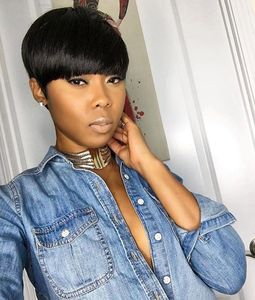 6 Inch Short Wigs For African American Women The Same As The Hairstyle In The Picture ef