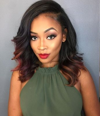 14 Inch Wavy Wigs For African American Women The Same As The Hairstyle In The Picture ci