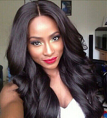 22 Inch Wavy Long Wigs For African American Women The Same As The Hairstyle In The Picture qk