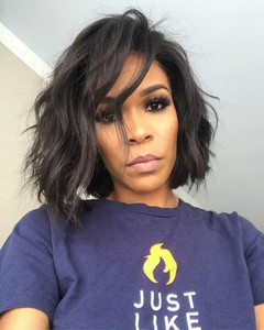 12 Inch Wavy Bob Wigs For African American Women The Same As The Hairstyle In The Picture cu