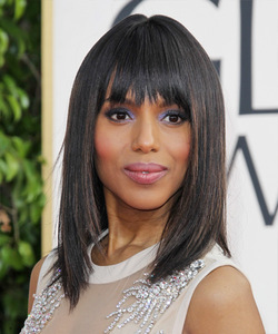 14 Inch Bob With Bangs Wigs For African American Women The Same As The Hairstyle In The Picture di