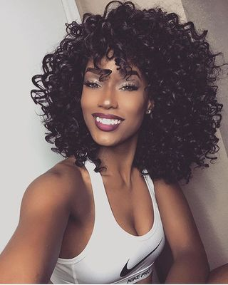 14 Inch Curly Wigs For African American Women The Same As The Hairstyle In The Picture ez