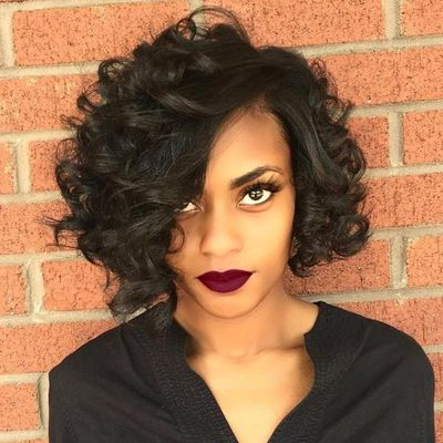 10 Inch Curly Wigs For African American Women The Same As The Hairstyle In The Picture ae