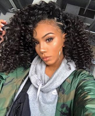 14 Inch Curly Wigs For African American Women The Same As The Hairstyle In The Picture