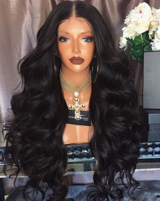 24 Inch Wavy Long Wigs For African American Women The Same As The Hairstyle In The Picture bk
