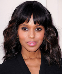 "12"" Wavy With Bangs Wigs For African American Women The Same As The Hairstyle In The Picture"