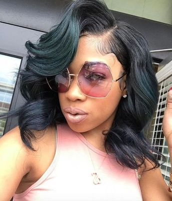14 Inch Wavy Wigs For African American Women The Same As The Hairstyle In The Picture dw