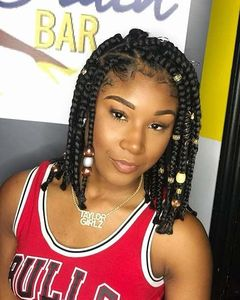 12 Inch Braided Wigs For African American Women The Same As The Hairstyle In The Picture kd