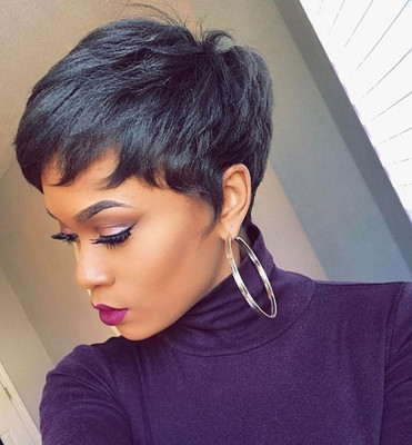 6 Inch Short Wigs For African American Women The Same As The Hairstyle In The Picture ee