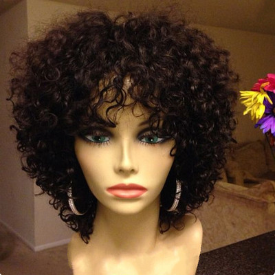 12 Inch Kinky Curly Wigs For African American Women The Same As The Hairstyle In The Picture py