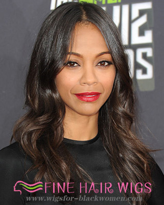 20 Inch Wavy Long Wigs For African American Women The Same As The Hairstyle In The Picture pk