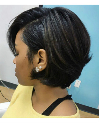 10 Inch Cute Bob Wigs For African American Women The Same As The Hairstyle In The Picture hn