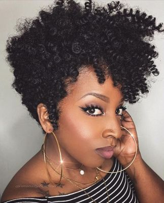 8 Inch Short Curly Wigs For African American Women The Same As The Hairstyle In The Picture fl