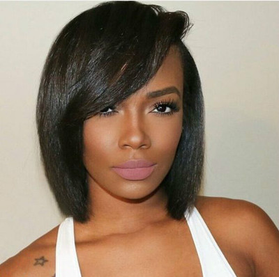 12 Inch Bob Wigs For African American Women The Same As The Hairstyle In The Picture co