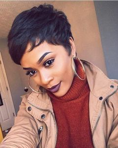 6 Inch Short Wigs For African American Women The Same As The Hairstyle In The Picture ek