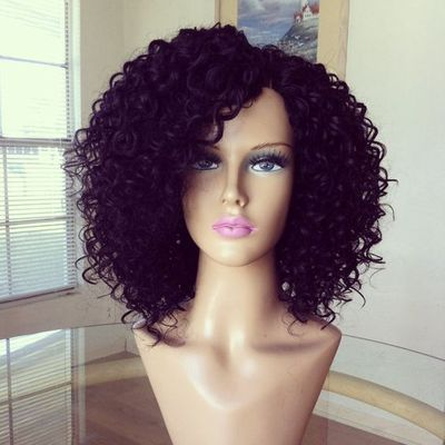 14 Inch Curly Wigs For African American Women The Same As The Hairstyle In The Picture nh