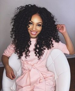 18 Inch Kinky Curly Wigs For African American Women The Same As The Hairstyle In The Picture ow
