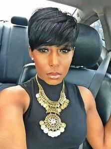 6 Inch Short Wigs For African American Women The Same As The Hairstyle In The Picture eg
