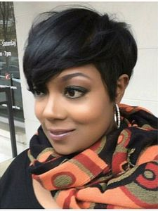6 Inch Short Wigs For African American Women The Same As The Hairstyle In The Picture