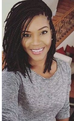 12 Inch Braided Wigs Lace Front Wigs For Women The Same As The Hairstyle In The Picture