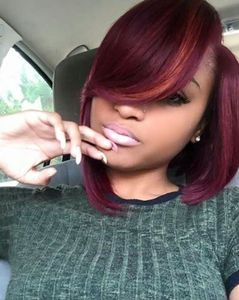12 Inch Bob With Bangs Wigs For African American Women The Same As The Hairstyle In The Picture ca