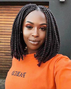 12 Inch Braided Wigs Lace Front Wigs For Women The Same As The Hairstyle In The Picture ix