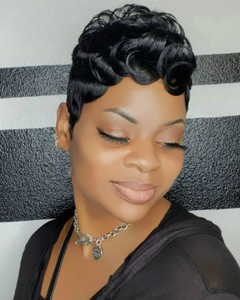 8 Inch Short Curly Wigs For African American Women The Same As The Hairstyle In Picture em